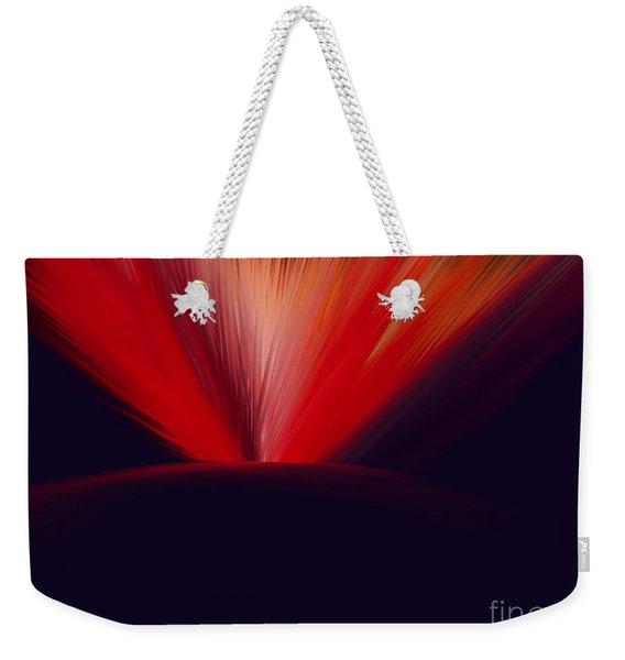 Flaming Planet Weekender Tote Bag