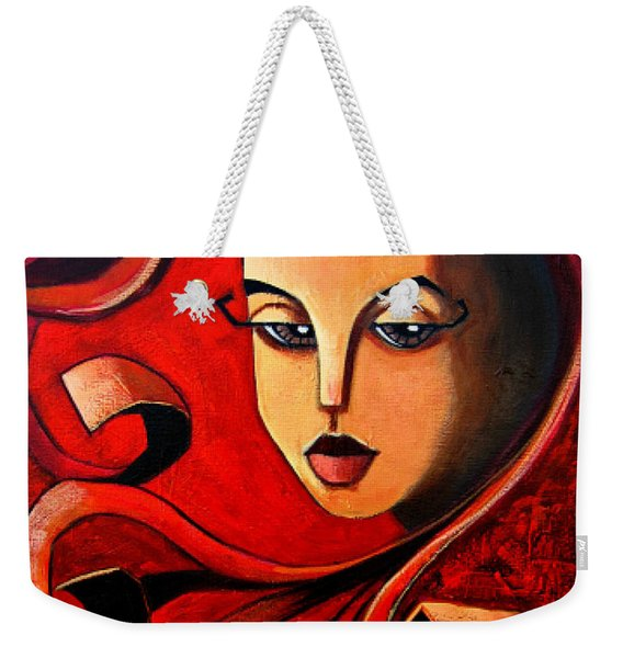 Flaming Serenity Weekender Tote Bag