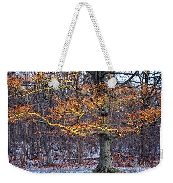 Flaming Tree Weekender Tote Bag