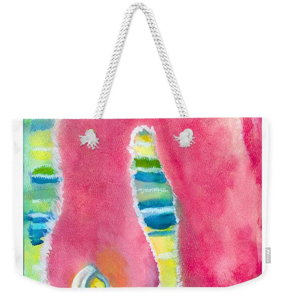 Flamingo Eating Weekender Tote Bag