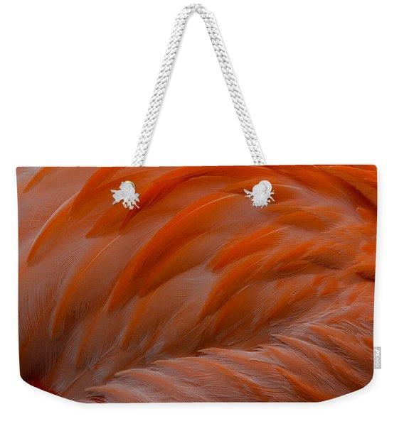 Flamingo Feathers Weekender Tote Bag