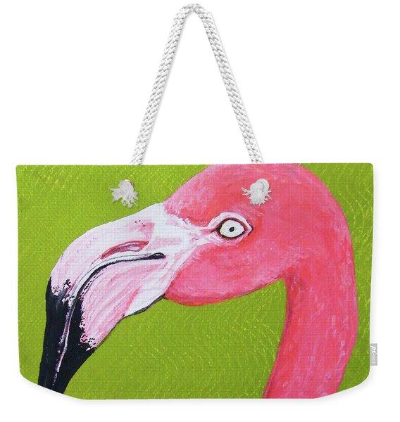 Flamingo Head Weekender Tote Bag