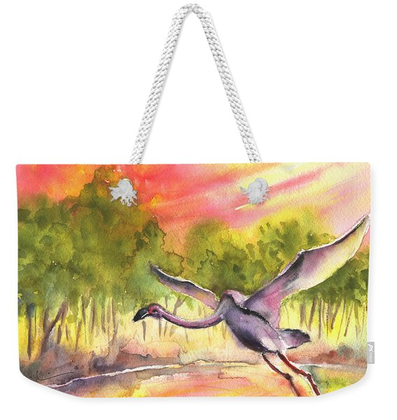 Flamingo In Alcazar De San Juan Weekender Tote Bag