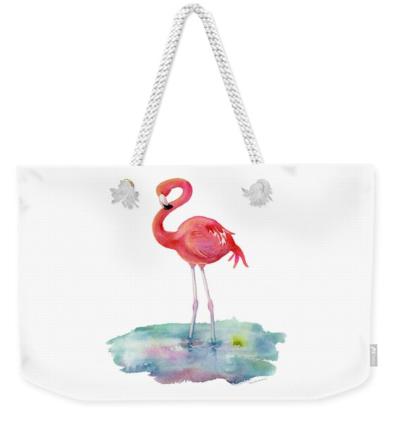 Flamingo Pose Weekender Tote Bag