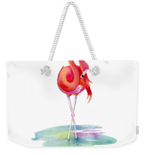 Flamingo Primp Weekender Tote Bag