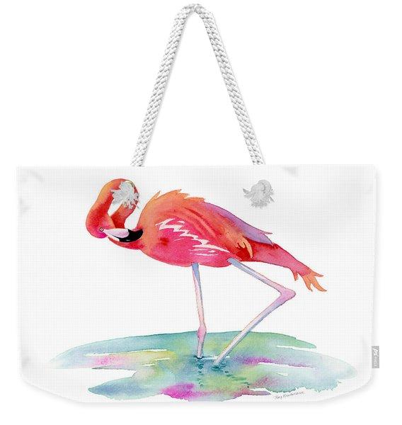 Flamingo View Weekender Tote Bag