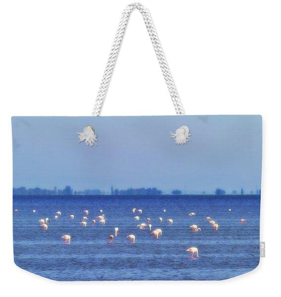 Flamingos In The Pond Weekender Tote Bag