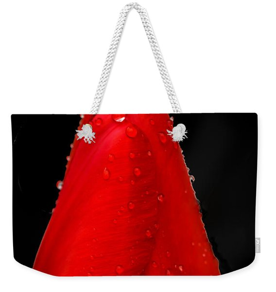 Floating Red Tulip Weekender Tote Bag