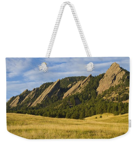 Flatiron Morning Light Boulder Colorado Weekender Tote Bag