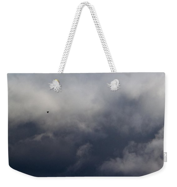 Fleeing The Storm   Weekender Tote Bag