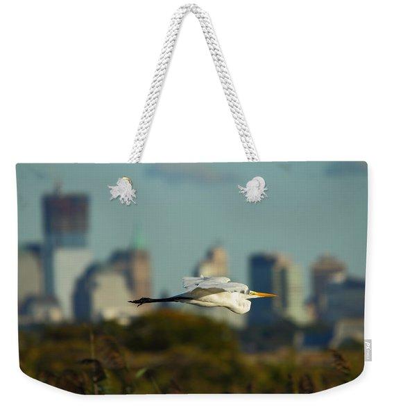 Flight Of The Great Egret Weekender Tote Bag