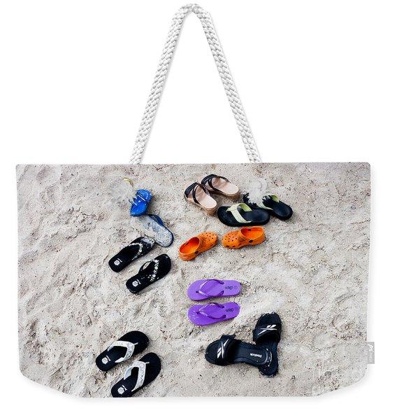 Flip Flops On The Beach Weekender Tote Bag