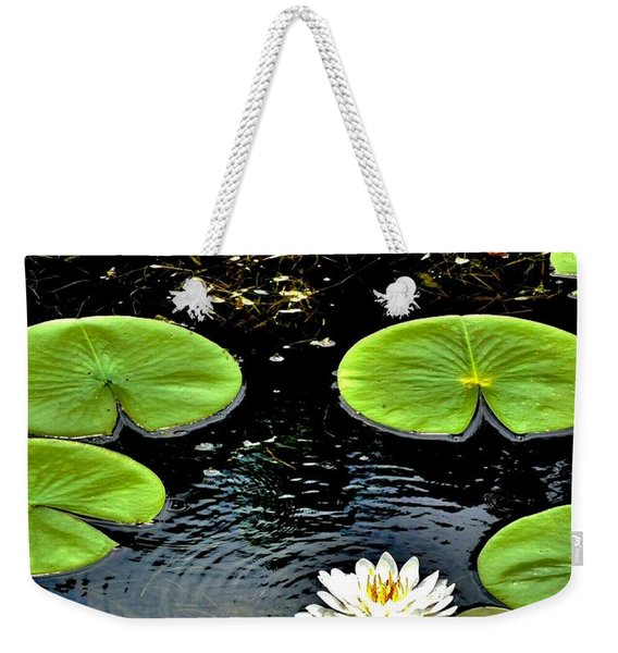 Floating Lily Weekender Tote Bag