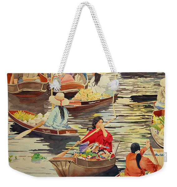 Floating Market Weekender Tote Bag