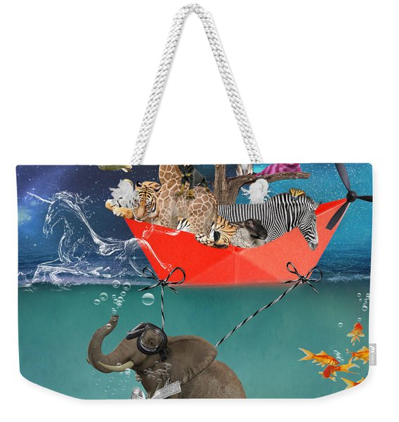 Floating Zoo Weekender Tote Bag