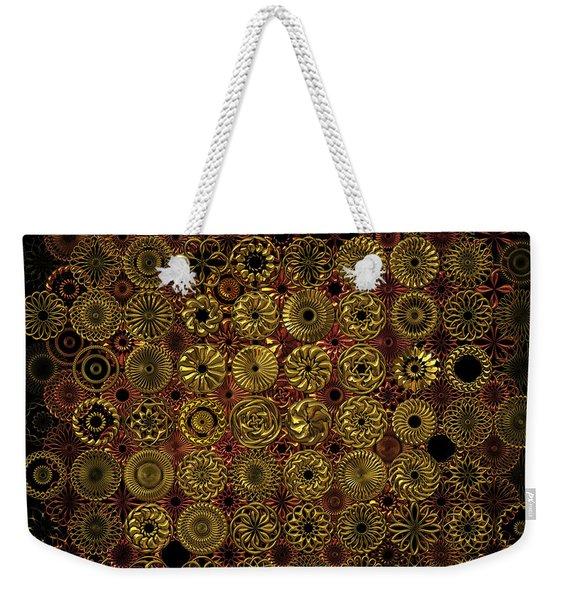 Flora Spiro Metal Quilt Weekender Tote Bag