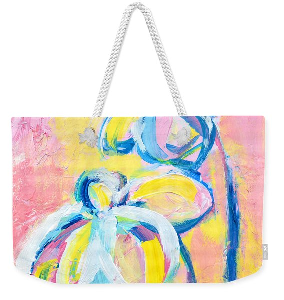 Abstract Flowers Silhouette No 15 Weekender Tote Bag