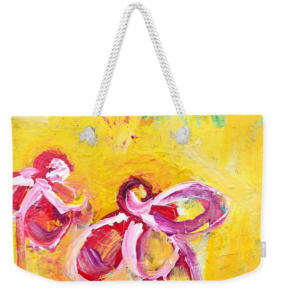 Abstract Flowers Silhouette No 14 Weekender Tote Bag