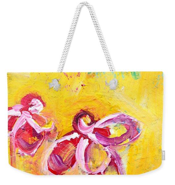Abstract Flowers Silhouette No 14 Weekender Tote Bag