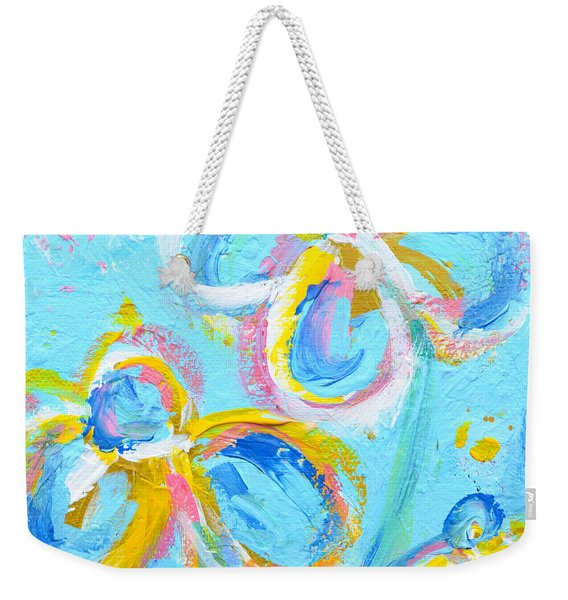 Abstract Flowers Silhouette No 16 Weekender Tote Bag