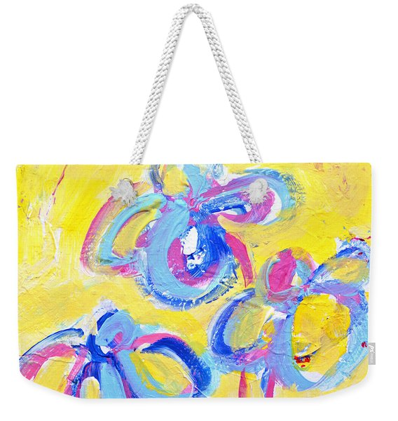Abstract Flowers Silhouette No 13 Weekender Tote Bag