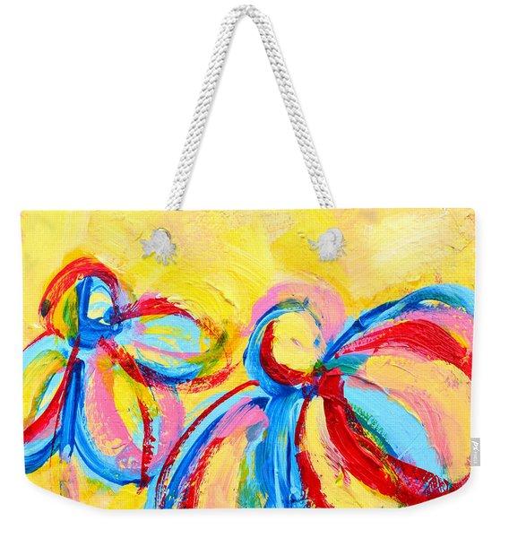 Abstract Flowers Silhouette No 12 Weekender Tote Bag