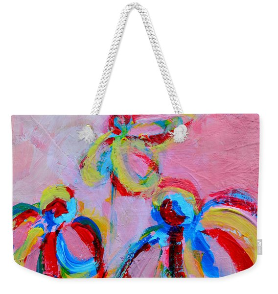 Abstract Flowers Silhouette No 11 Weekender Tote Bag