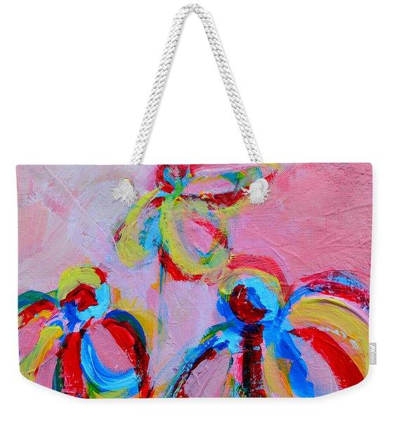 Abstract Flowers Silhouette No 11 Weekender Tote Bag