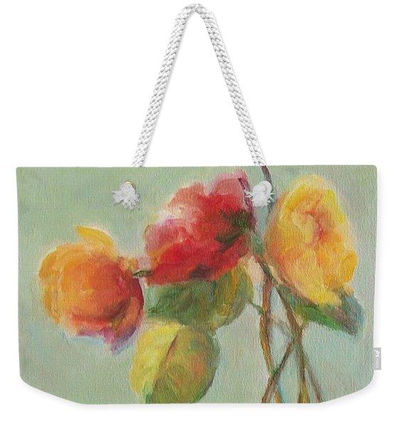 Floral Painting Weekender Tote Bag