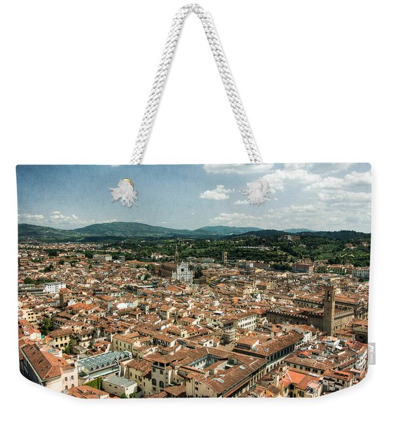 Florence Italy Cityscape Weekender Tote Bag
