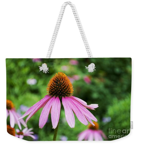Flower - Cone Flower Star- Luther Fine Art Weekender Tote Bag