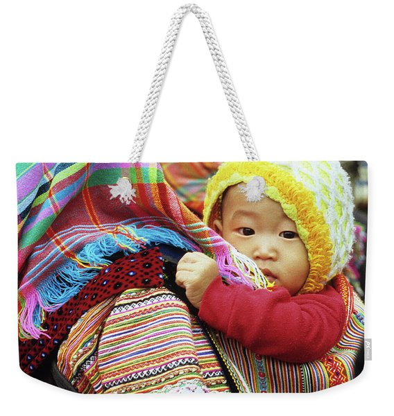 Flower Hmong Baby 04 Weekender Tote Bag