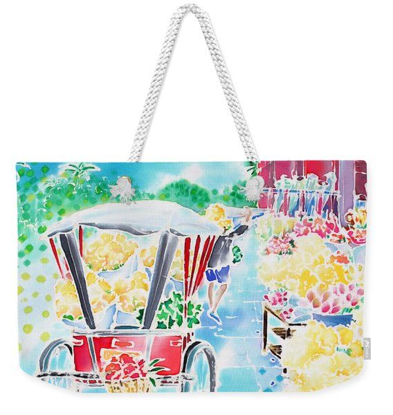 Flower Market  In Chiang Mai Weekender Tote Bag