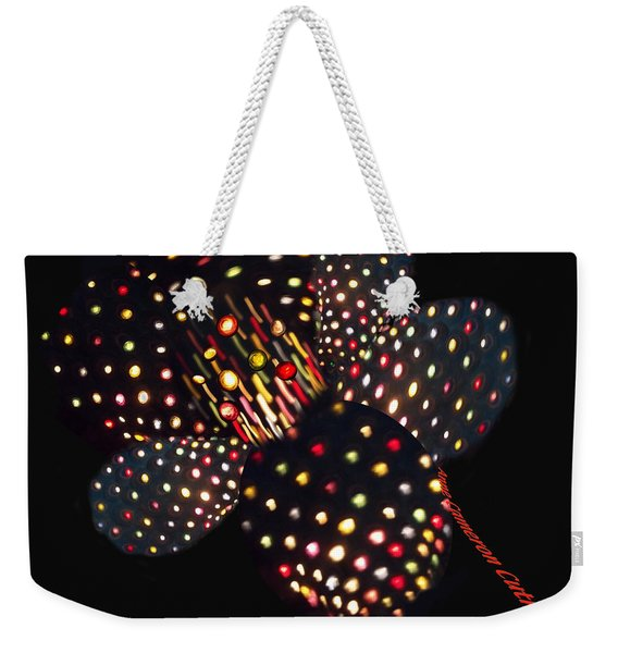 Flower Of Lights Weekender Tote Bag