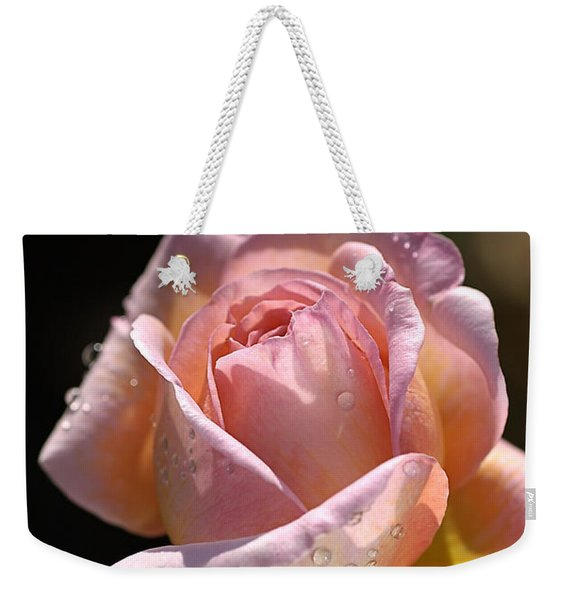 Flower-pink And Yellow Rose-bud Weekender Tote Bag