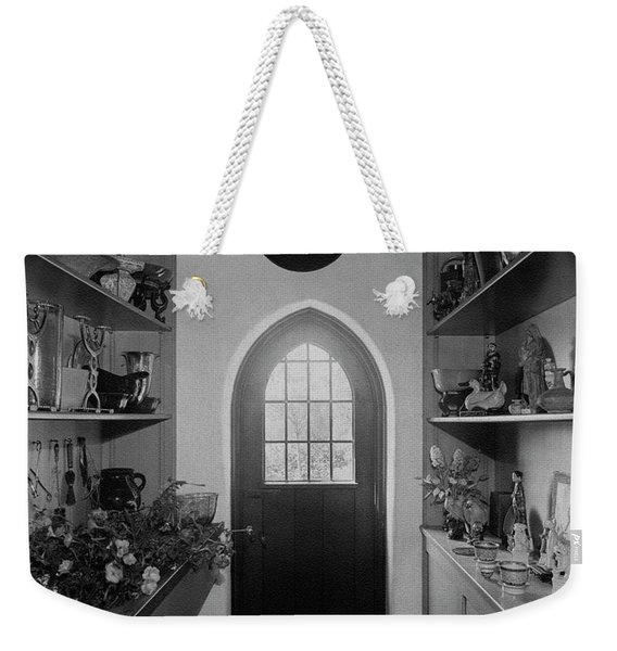Flower Room In The Home Of Mrs. Charles Wheeler Weekender Tote Bag