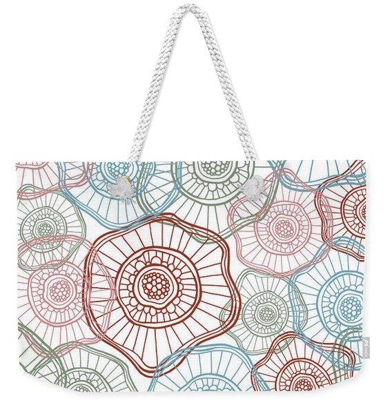 Flower Squiggle Weekender Tote Bag