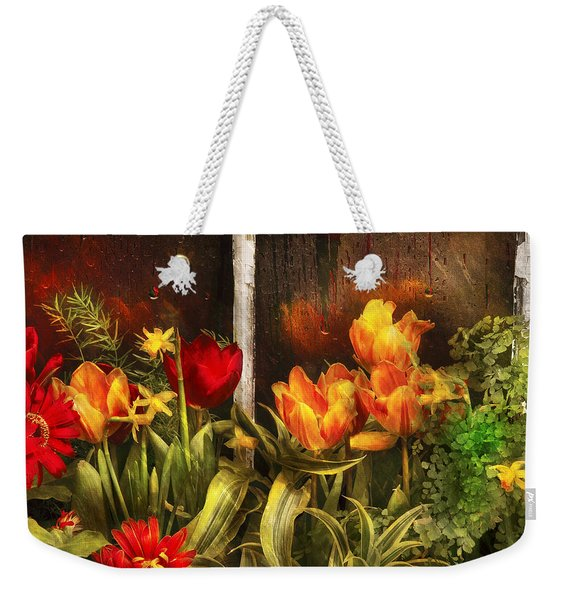 Flower - Tulip - Tulips In A Window Weekender Tote Bag