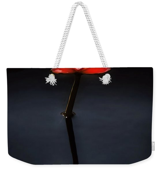Flower - Water Lily - Nymphaea Jack Wood - Reflection Weekender Tote Bag