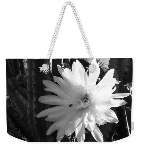 Flowering Cactus 1 Bw Weekender Tote Bag