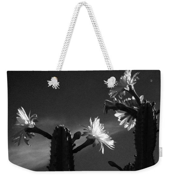 Flowering Cactus 4 Bw Weekender Tote Bag