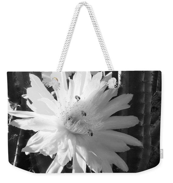 Flowering Cactus 5 Bw Weekender Tote Bag