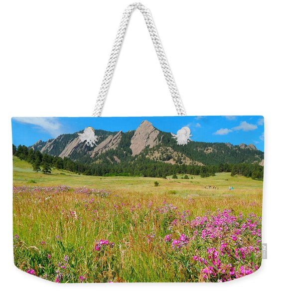 The Flatirons Colorado Weekender Tote Bag
