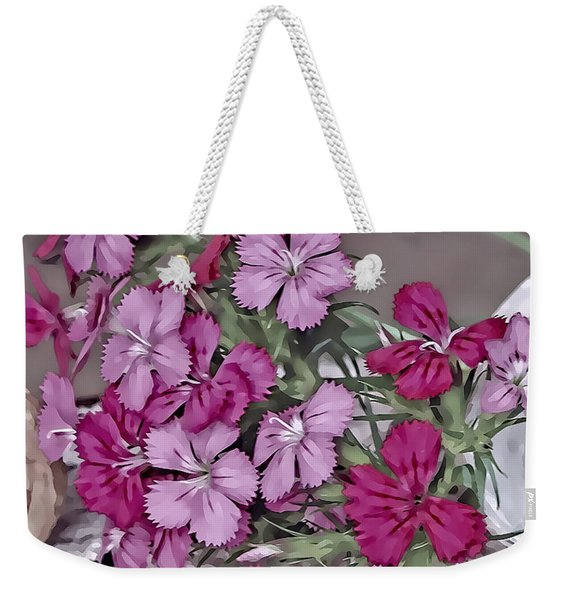 Flowers And Lace Weekender Tote Bag