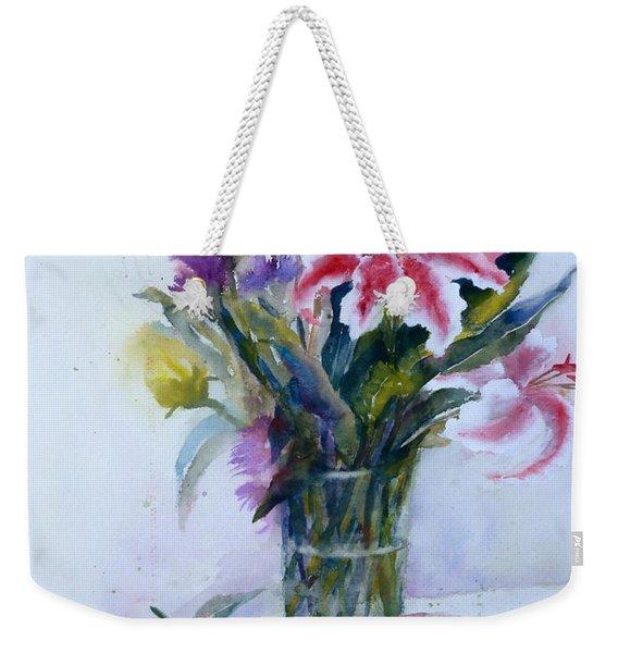 Flowers And Teapot Weekender Tote Bag