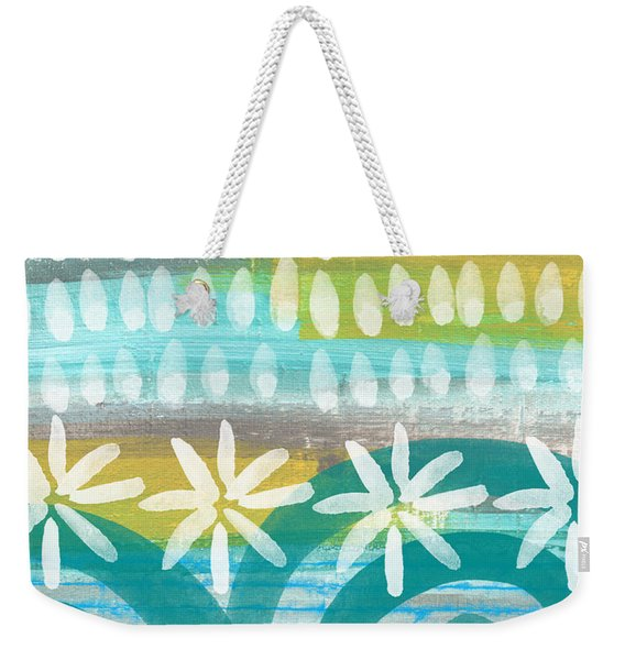 Flowers And Waves- Abstract Pattern Painting Weekender Tote Bag