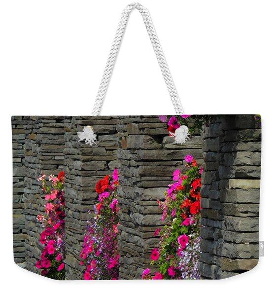 Flowers At Liscannor Rock Shop Weekender Tote Bag