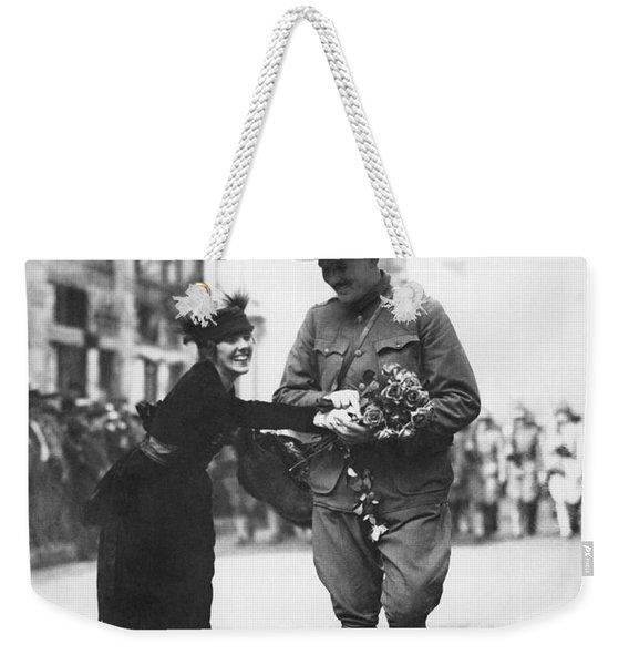 Flowers For Wwi Soldier Weekender Tote Bag