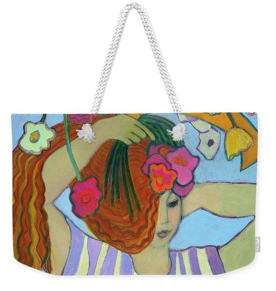 Flowers In Her Hair, 2003-04 Weekender Tote Bag