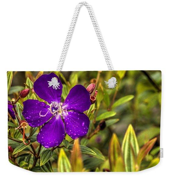 Flowers Love Water Weekender Tote Bag